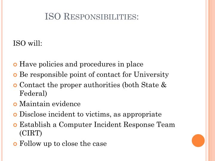 computer incident response policy cirt Incident response policies & plans name link acceptable use policy security policy for remote computers download system component configuration policy the first and only incident response community laser-focused on incident response, security operations and.
