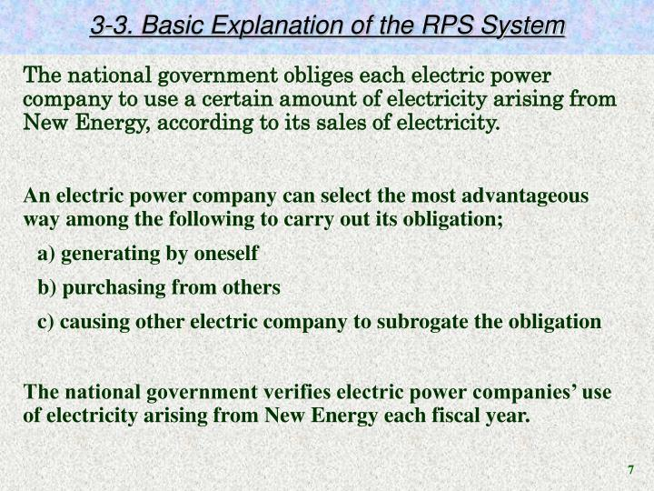 3-3. Basic Explanation of the RPS System