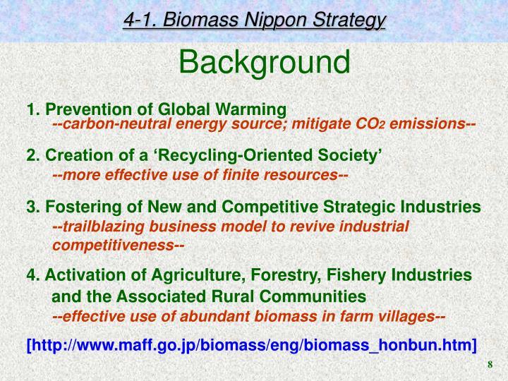 4-1. Biomass Nippon Strategy