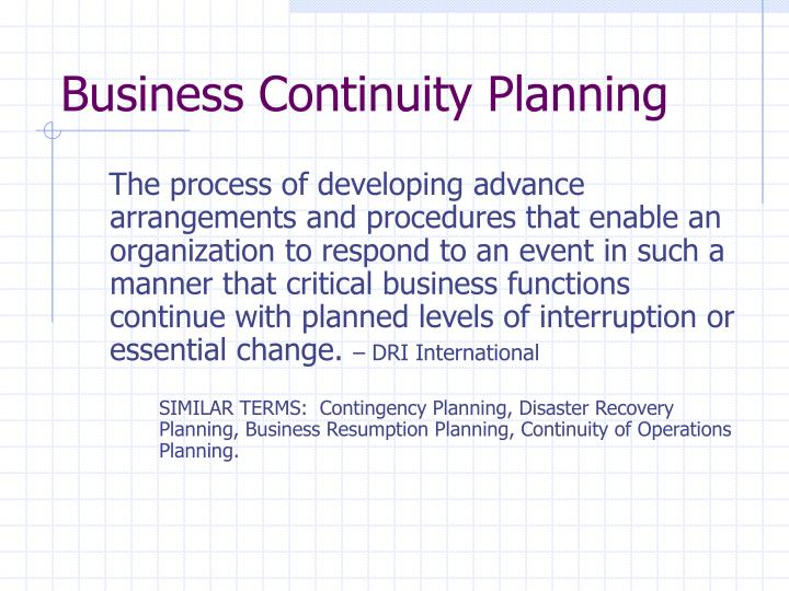 Ppt Business Continuity Planning Powerpoint Presentation Id3323230