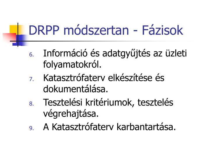 DRPP módszertan - Fázisok