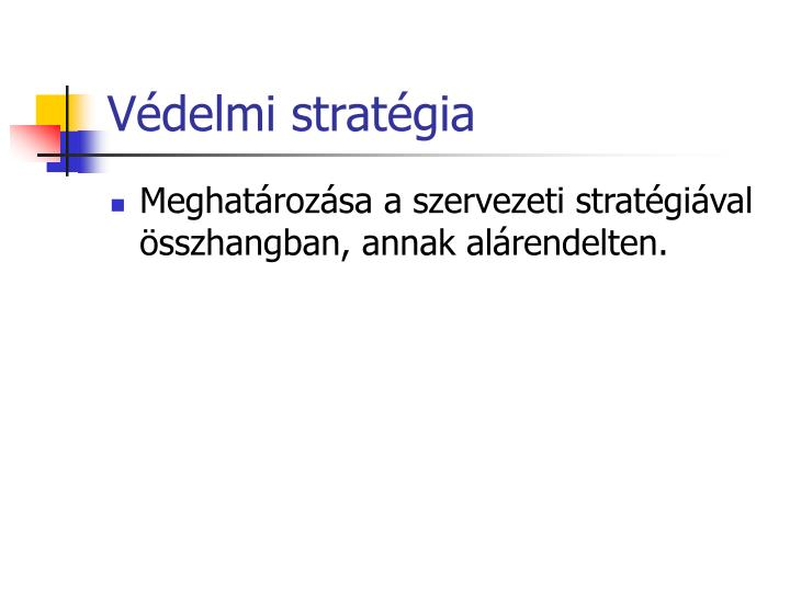 Védelmi stratégia