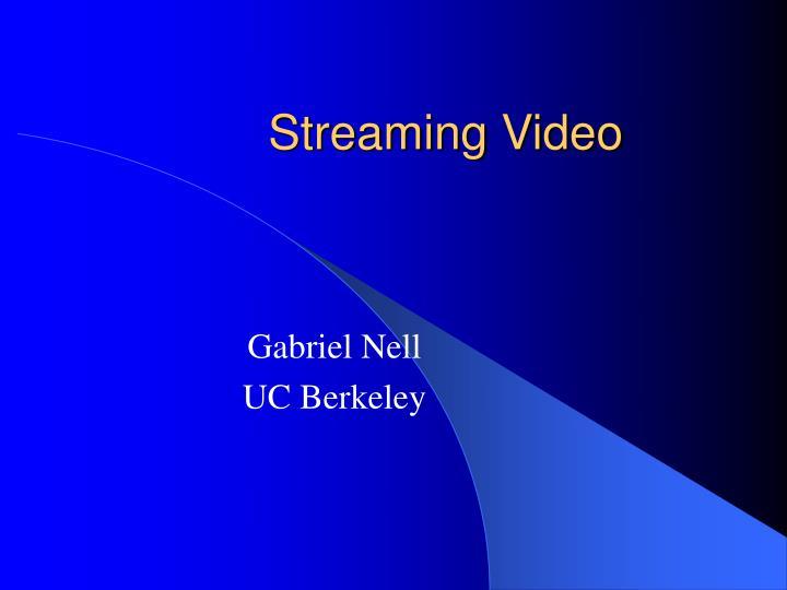 streaming video n.