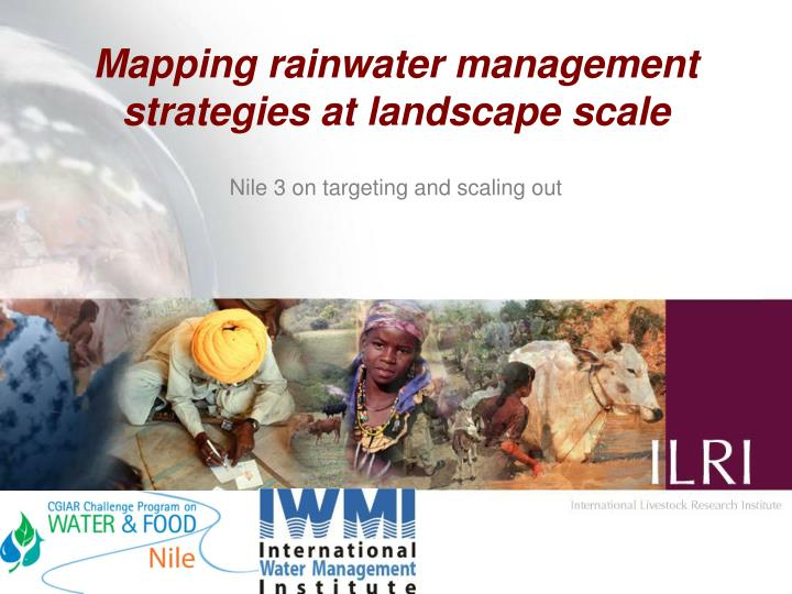 Mapping rainwater management strategies at landscape scale