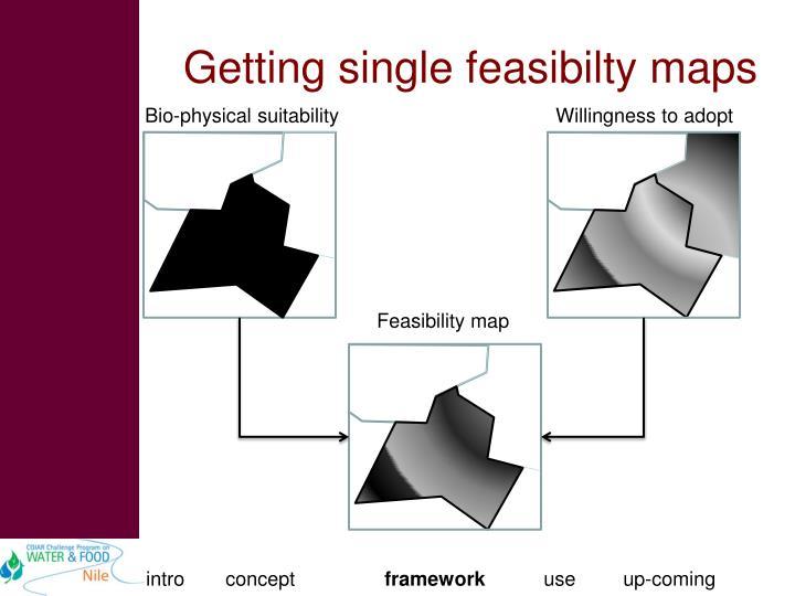 Getting single feasibilty maps