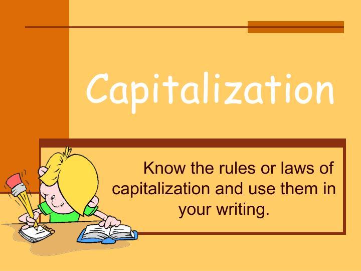 capitalization n.