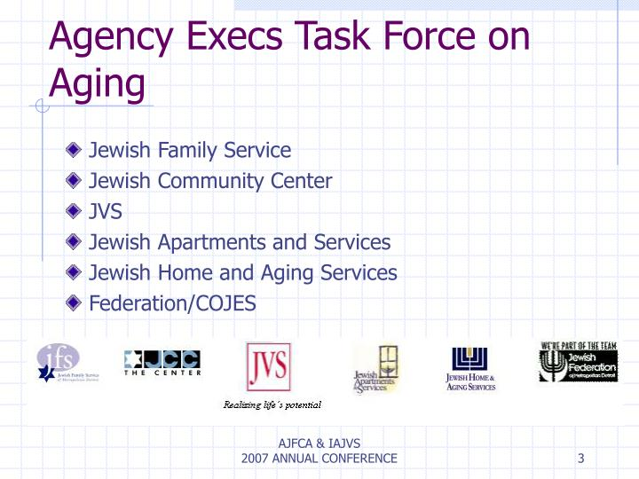 Agency execs task force on aging