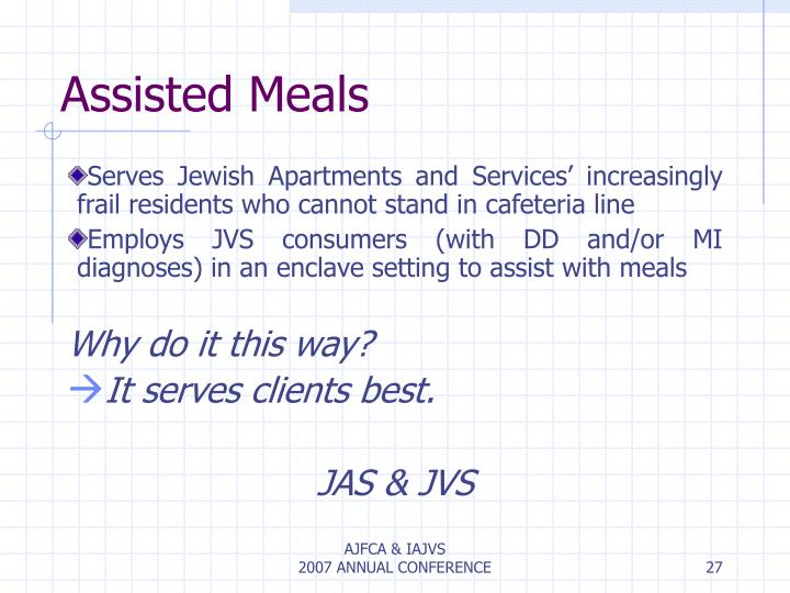 Assisted Meals