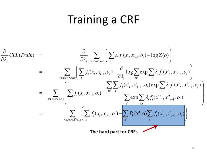 Training a CRF