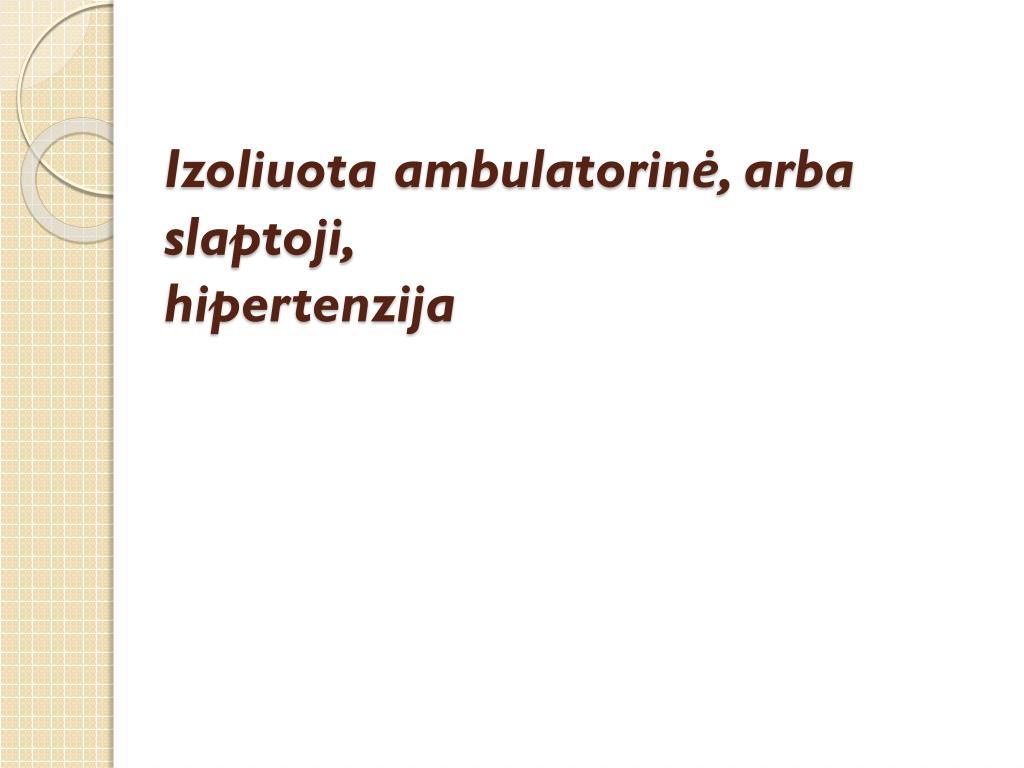kūno masės indeksas sergant hipertenzija)