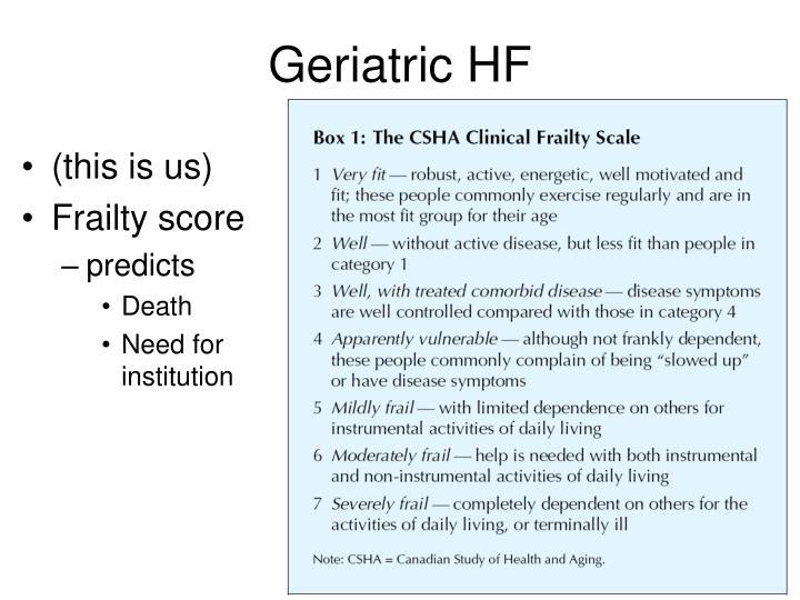 Geriatric HF