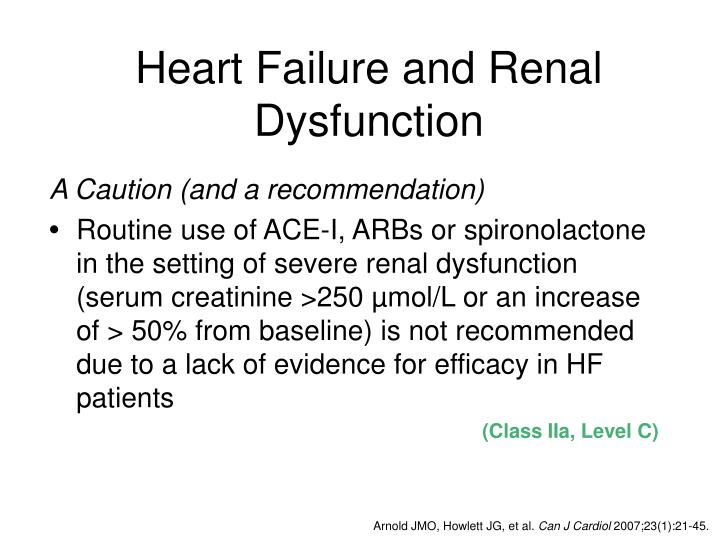 Heart Failure and Renal Dysfunction