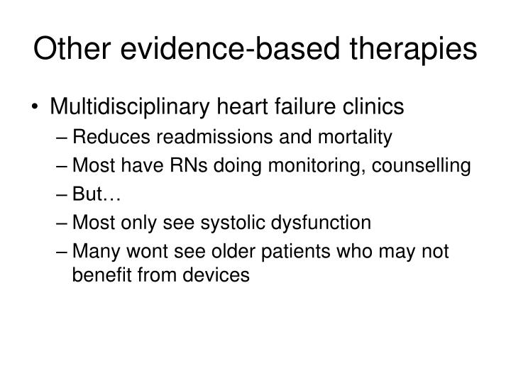 Other evidence-based therapies