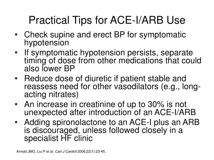 Practical Tips for ACE-I/ARB Use