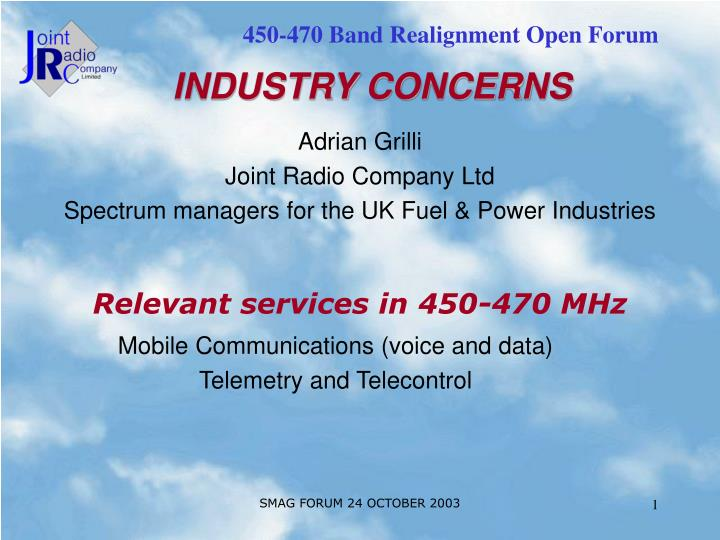 adrian grilli joint radio company ltd spectrum managers for the uk fuel power industries n.