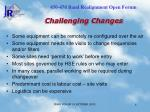 challenging changes