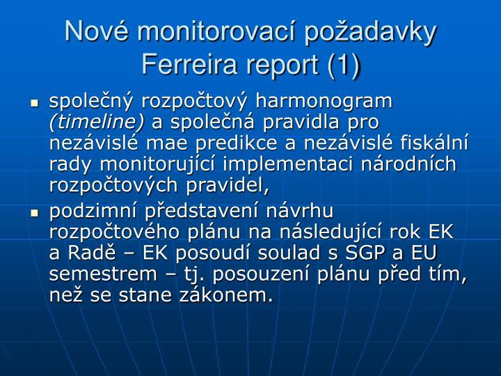 Nové monitorovací požadavky Ferreira report (1)