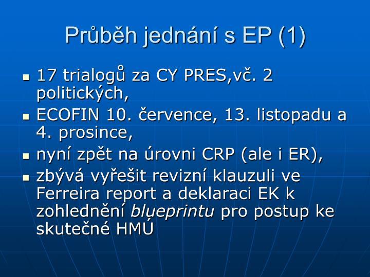Průběh jednání s EP (1)