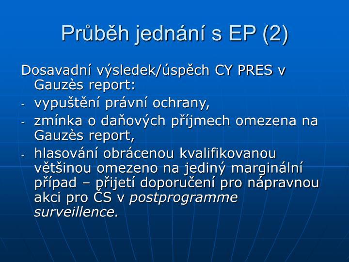 Průběh jednání s EP (2)