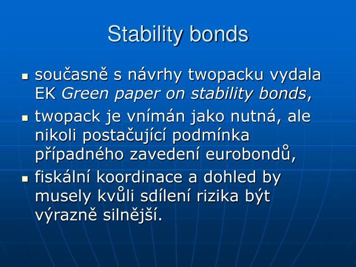 Stability bonds