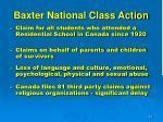 baxter national class action