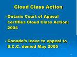 cloud class action1