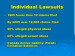 individual lawsuits