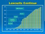 lawsuits continue