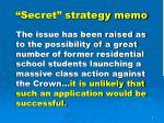 secret strategy memo1