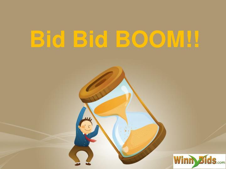 bid bid boom n.