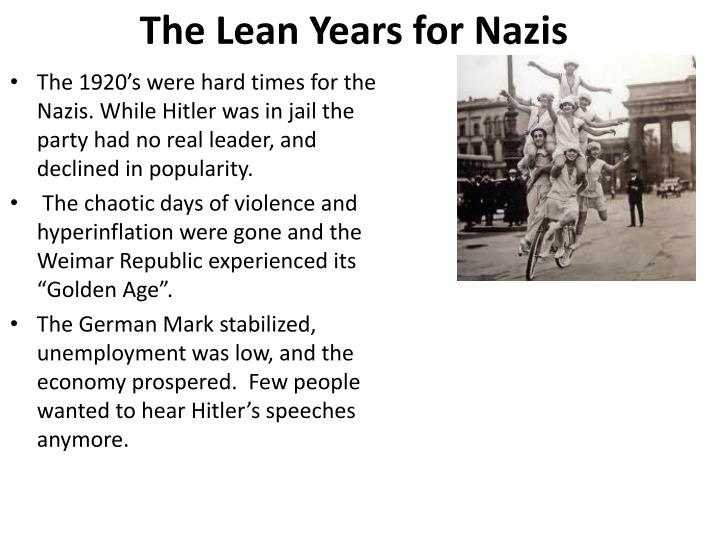 the lean years for nazis n.
