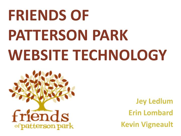 friends of patterson park website technology n.