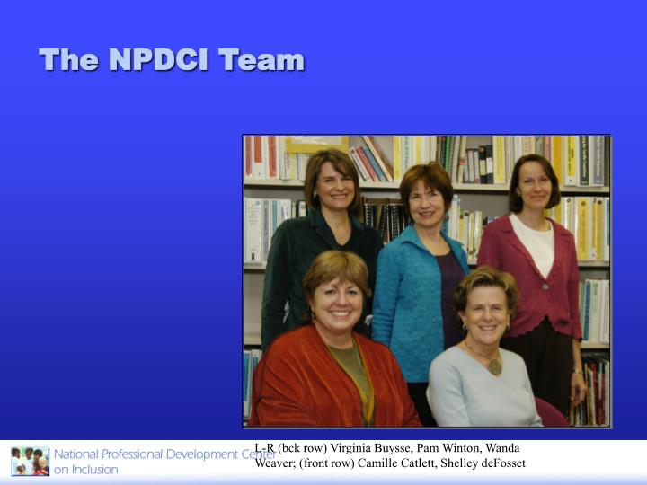 The npdci team