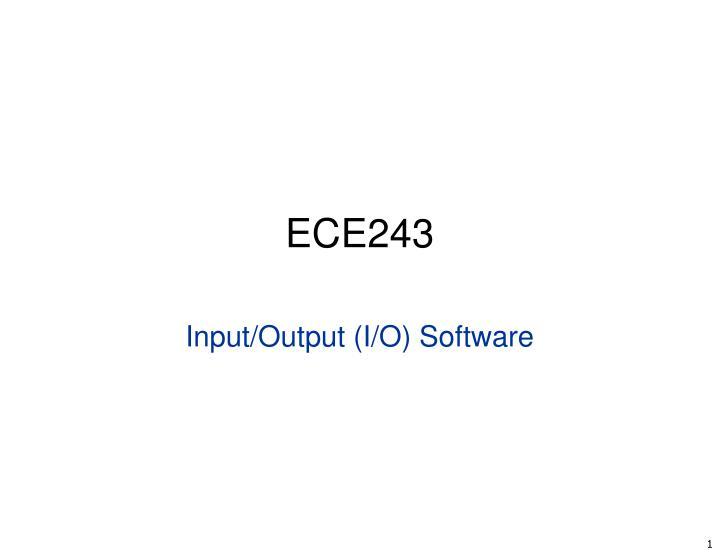 ece243 n.