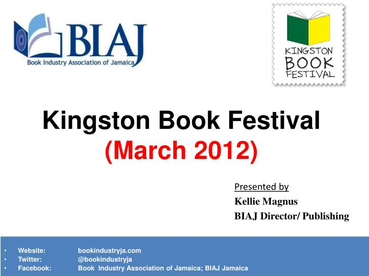 Kingston book festival march 2012