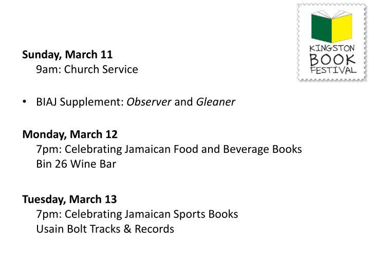 Sunday, March 11
