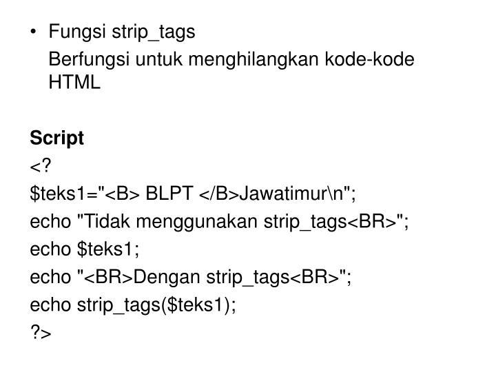 Fungsi strip_tags