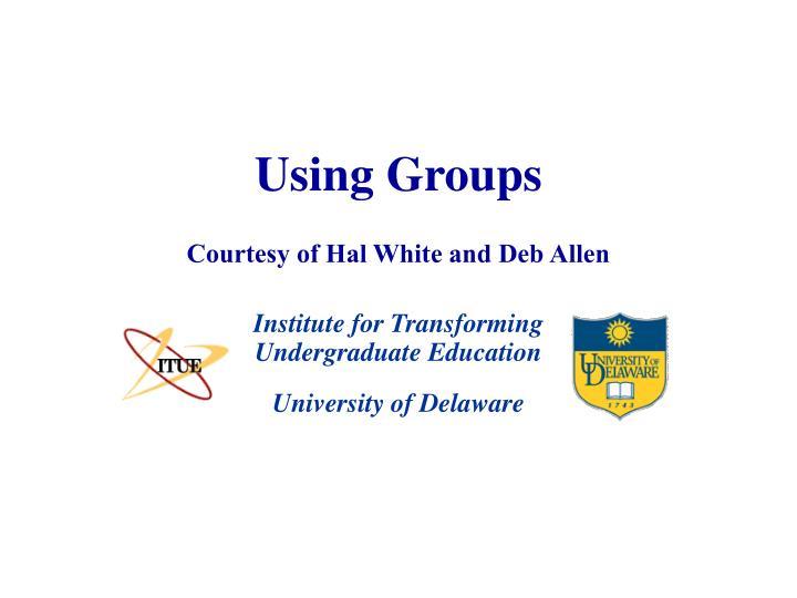 using groups n.