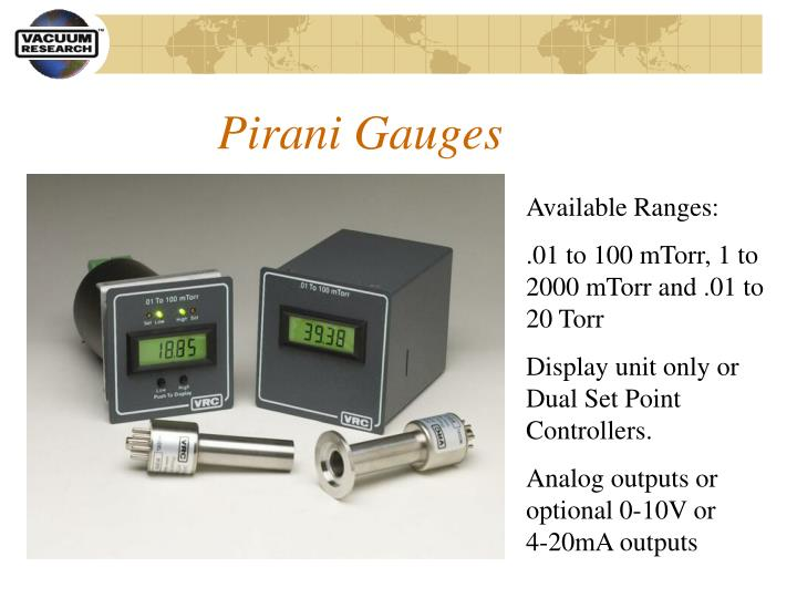 Pirani Gauges