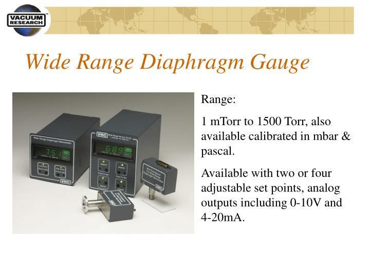 Wide Range Diaphragm Gauge