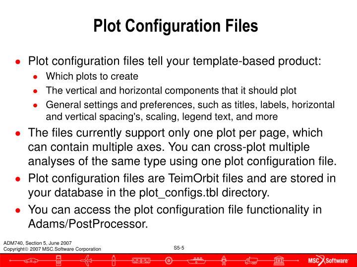 Plot Configuration Files
