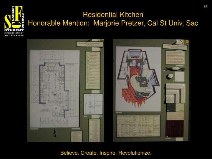 Residential kitchen honorable mention marjorie pretzer cal st univ sac