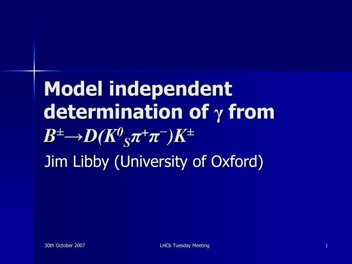 model independent determination of from b d k 0 s k n.