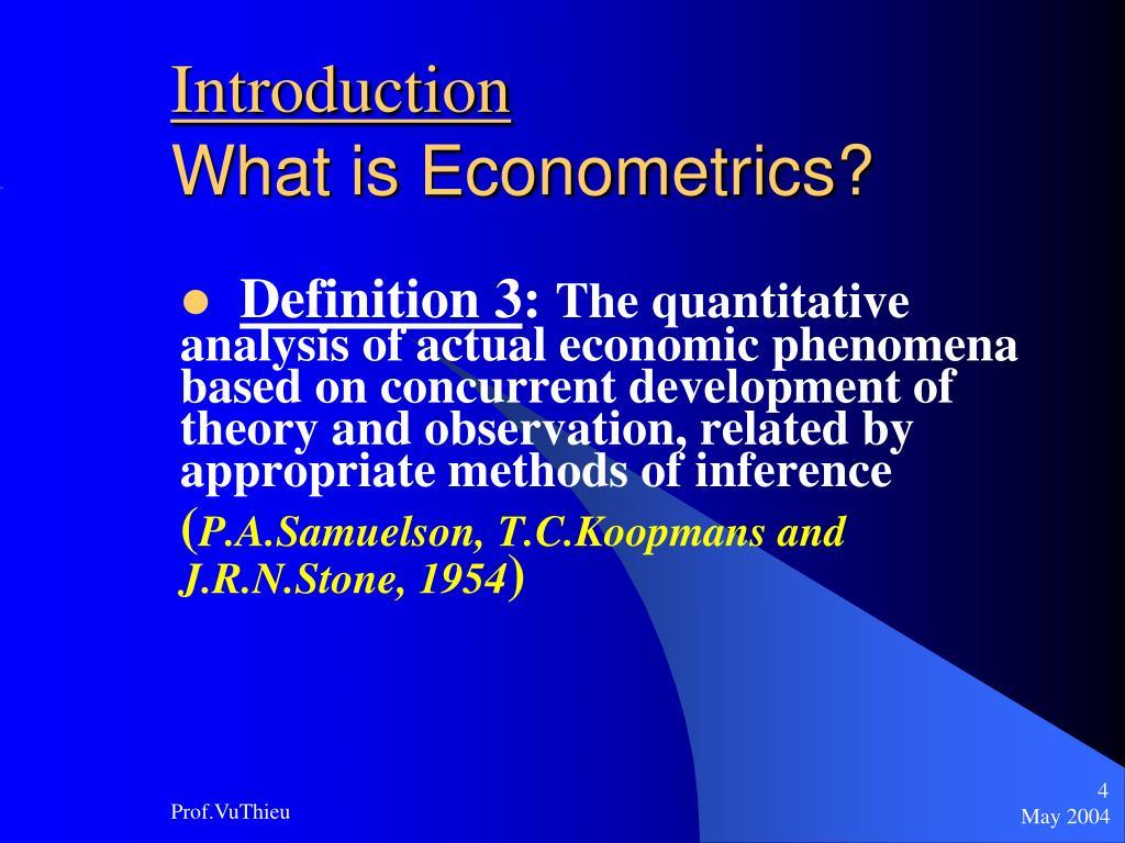 PPT - Basic Econometrics PowerPoint Presentation, free ...