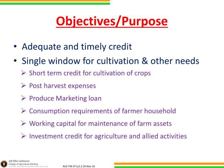 Objectives/Purpose