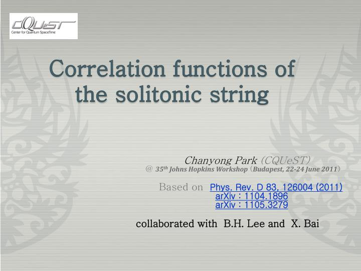 correlation functions of the solitonic string n.