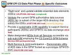 gfm cpi c2 data pilot phase 4b specific outcomes