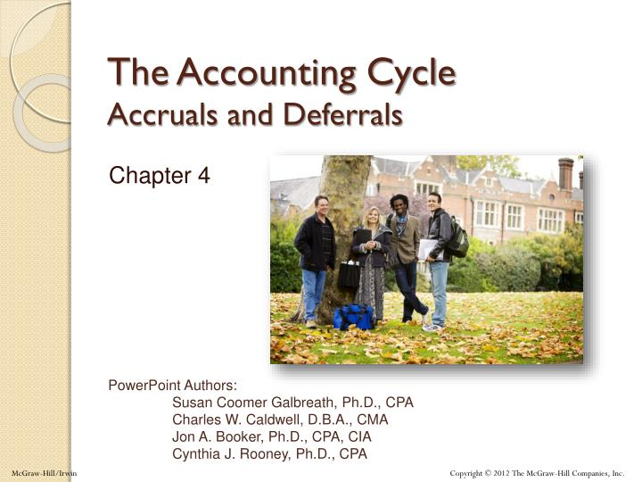 the accounting cycle accruals and deferrals n.