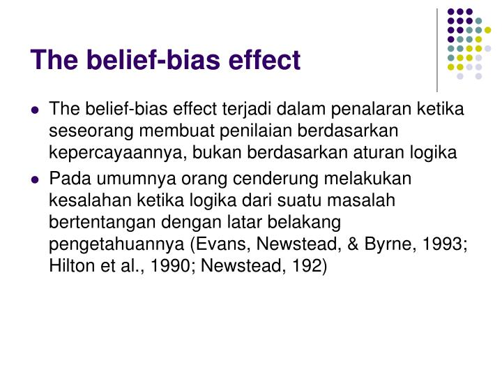 The belief-bias effect