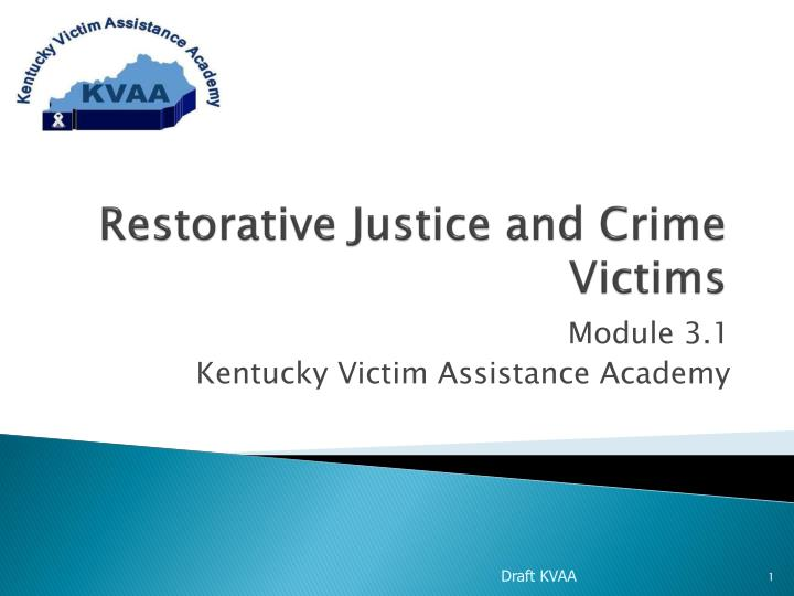 restorative justice and crime victims n.